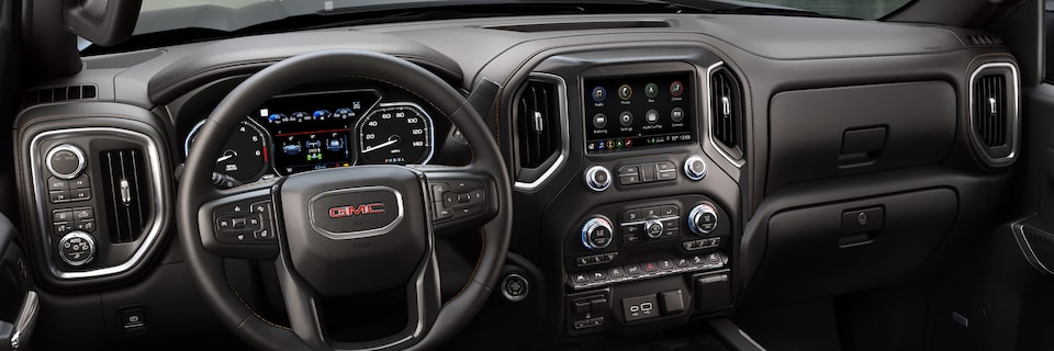 2020 Sierra AT4 Off Road Truck: Interior dashboard