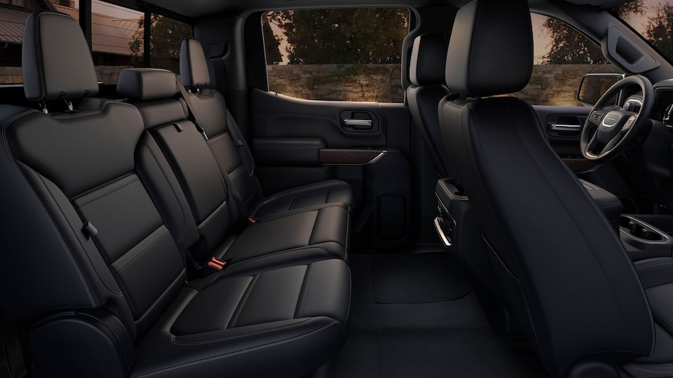 2020 GMC Sierra 1500 Denali Luxury Pickup Truck Interior Rear Comfort Feature