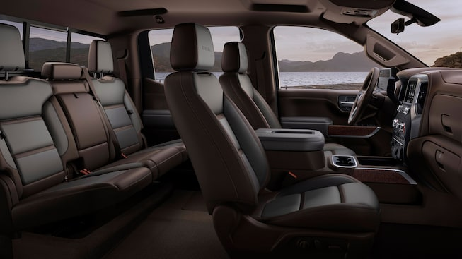 2020 GMC Sierra 1500 Denali Luxury Pickup Truck Gallery Front and Rear Interior Cabin