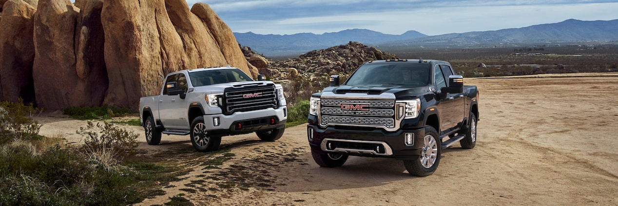 Next Gen 2020 GMC Sierra 2500HD and 3500HD Pickup Trucks Lineup Front View