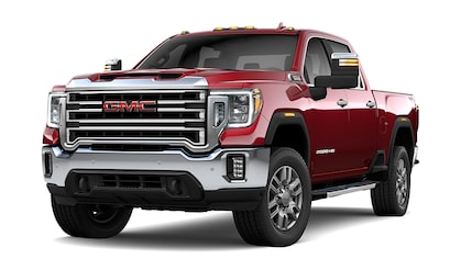 2020 GMC Sierra 2500HD SLE/SLT Heavy Duty Pickup Truck in red quartz metallic