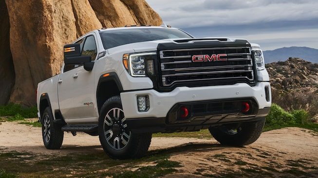 2020 GMC Sierra HD AT4 Off-Road Truck 10-inches of Ground Clearance Close Up