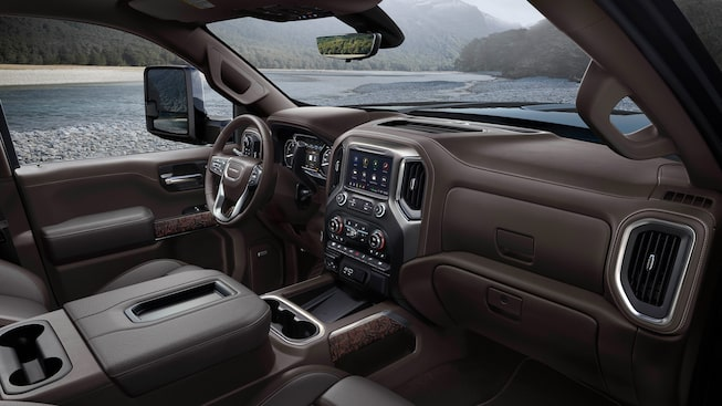 2020 GMC Sierra Denali HD Luxury Truck Interior Dashboard