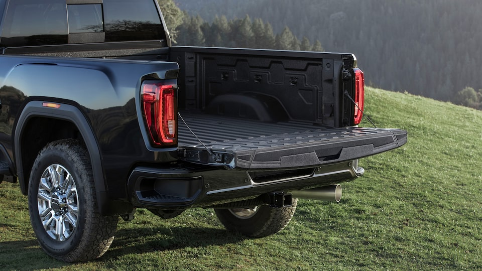2020 GMC Sierra HD AT4 Off-Road Truck MultiPro Tailgate Open