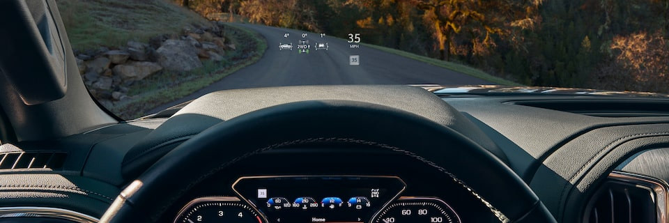 2020 GMC Sierra Denali HD Luxury Truck Head-Up Display