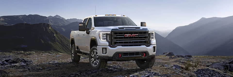 2020 GMC Sierra HD AT4 Off-Road Truck Front Side Exterior View