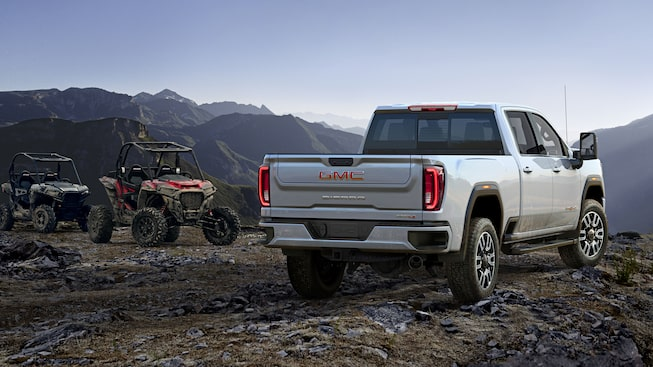 2020 GMC Sierra HD AT4 Off-Road Truck Rear Side Exterior View