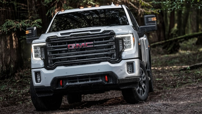 2020 GMC Sierra HD AT4 Off-Road Truck Front LED Lighting