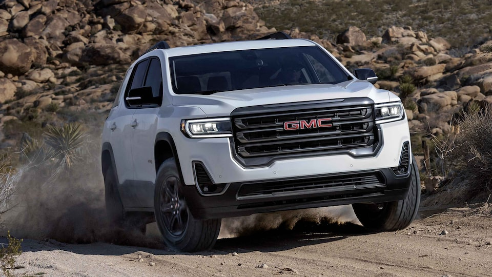 2021 GMC Acadia AT4 Off-road SUV Exterior Outdoor Driving View