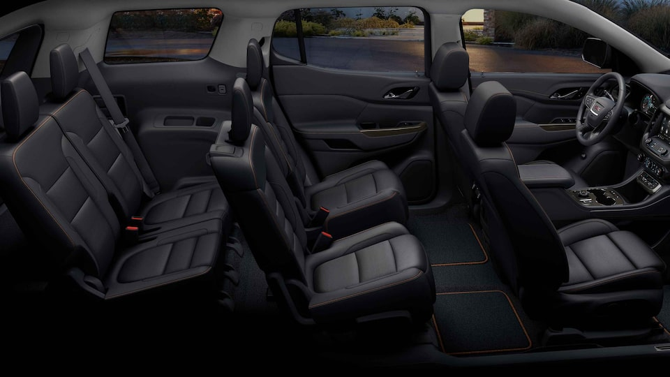 2021 GMC Acadia AT4 Off-road SUV Interior 3-row Seat View