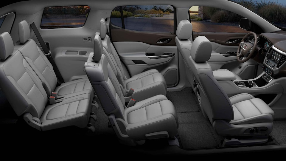2021 GMC Acadia Mid-Size SUV Interior 3-row Seating View
