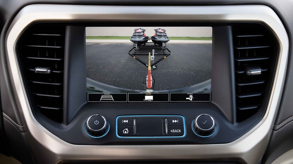 2021 GMC Acadia Mid-size SUV rear camera on touch screen
