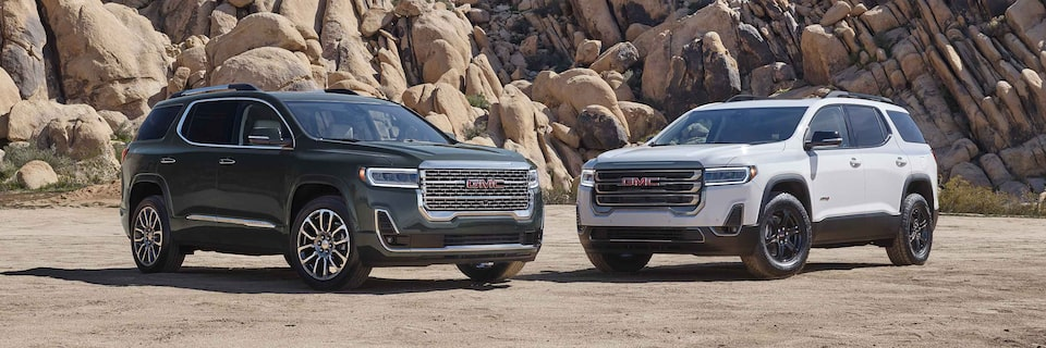 exterior features  2021 gmc acadia  midsize suv