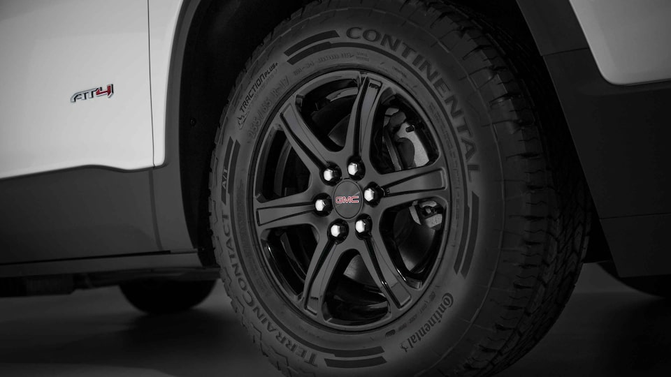 2021 GMC Acadia AT4 Off-Road SUV Front Wheel Close Up