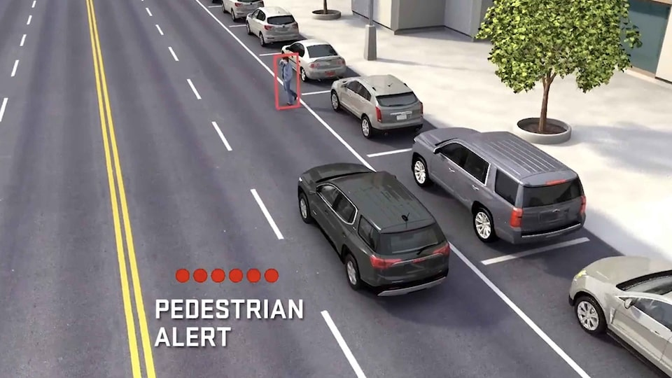 2021 GMC Acadia Mid-Size SUV Front Pedestrian Braking Feature