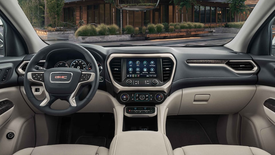 2021 GMC Acadia Denali Mid-Size Luxury SUV Interior Dash View