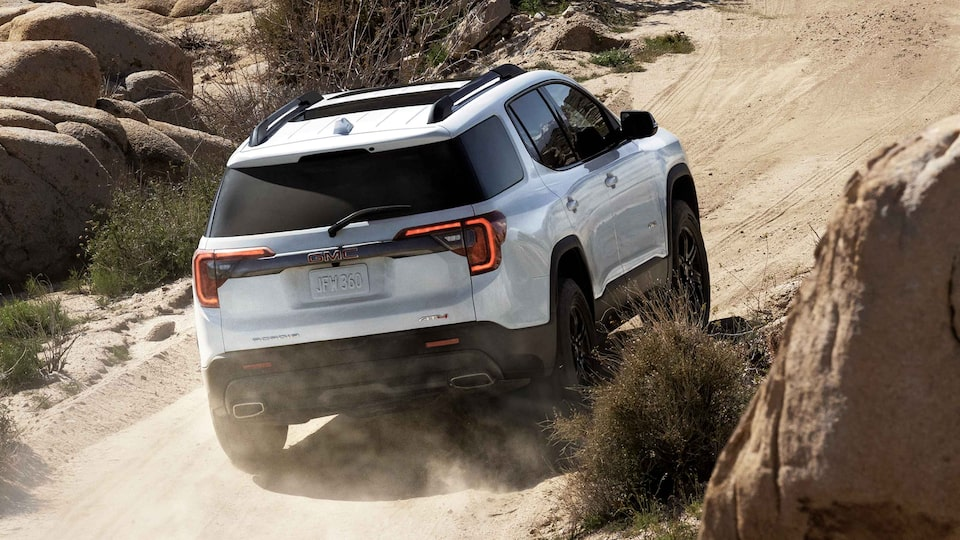 2021 GMC Acadia AT4 Off-Road SUV Rear Side View