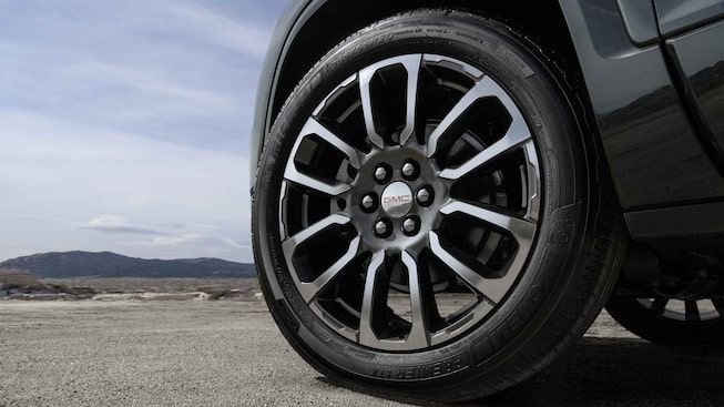 2021 GMC Acadia Denali Mid-Size Luxury SUV Exterior Front Wheel Close up