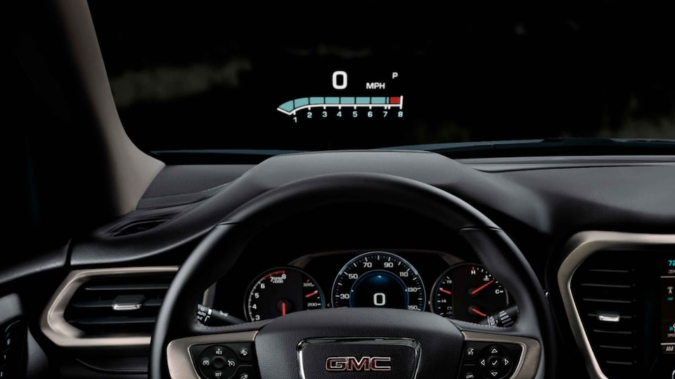 2021 GMC Acadia Mid-Size SUV Interior Heads up Display (HUD) View