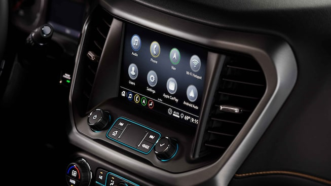 2021 GMC Acadia AT4 Off-road SUV Interior Center Console View
