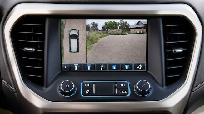 2021 GMC Acadia Denali Mid-Size Luxury SUV Interior Touch Screen Camera View