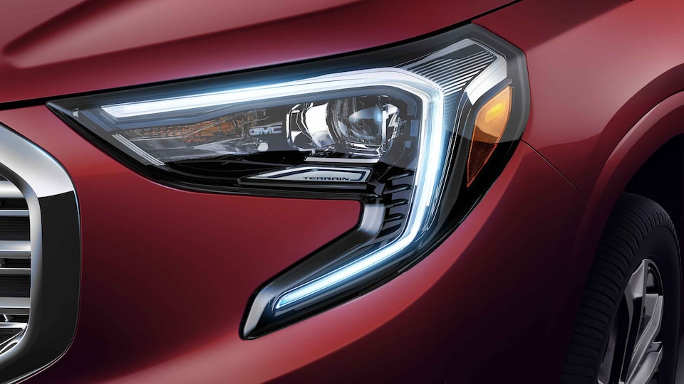 2021 GMC Terrain Denali Small Luxury SUV with LED Headlamps with Signature Lighting