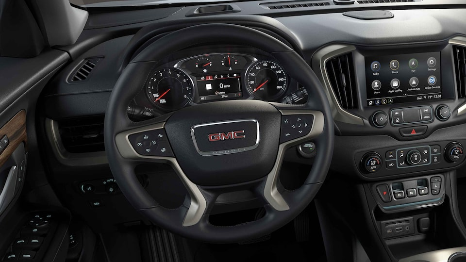 2021 GMC Terrain Denali Small Luxury SUV with Heated Leather-Wrapped Steering Wheel