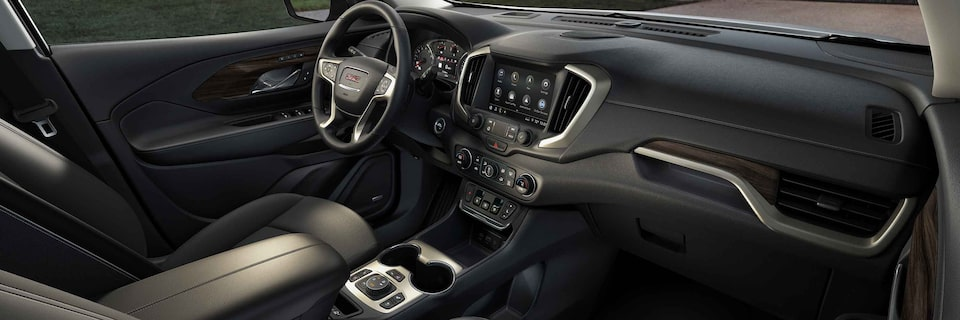 2021 GMC Terrain Small SUV Interior Dashboard Passenger View