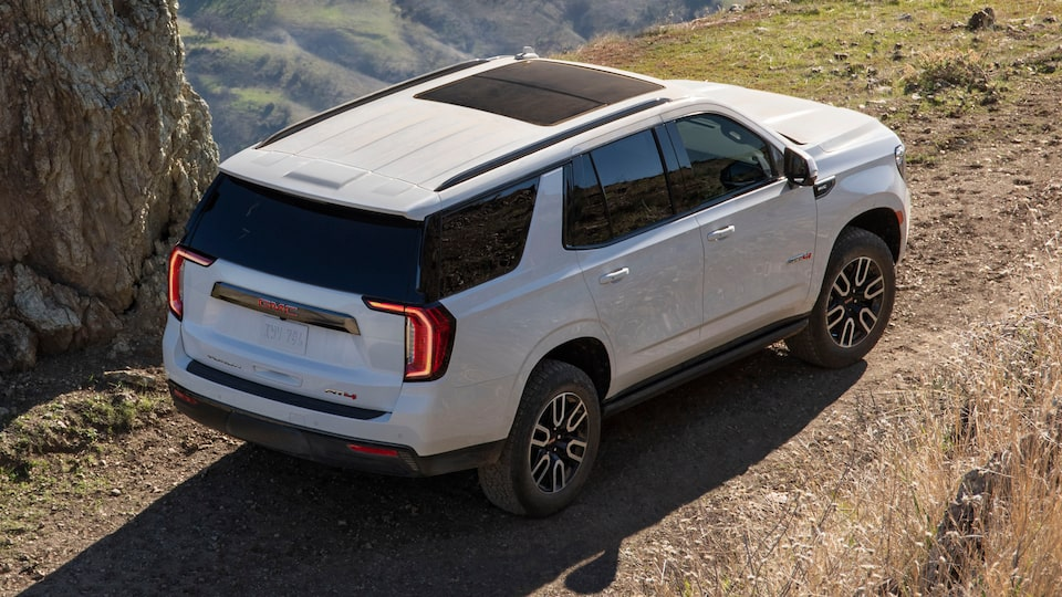2021 GMC Yukon Full size SUV Exterior Aerial Rear View
