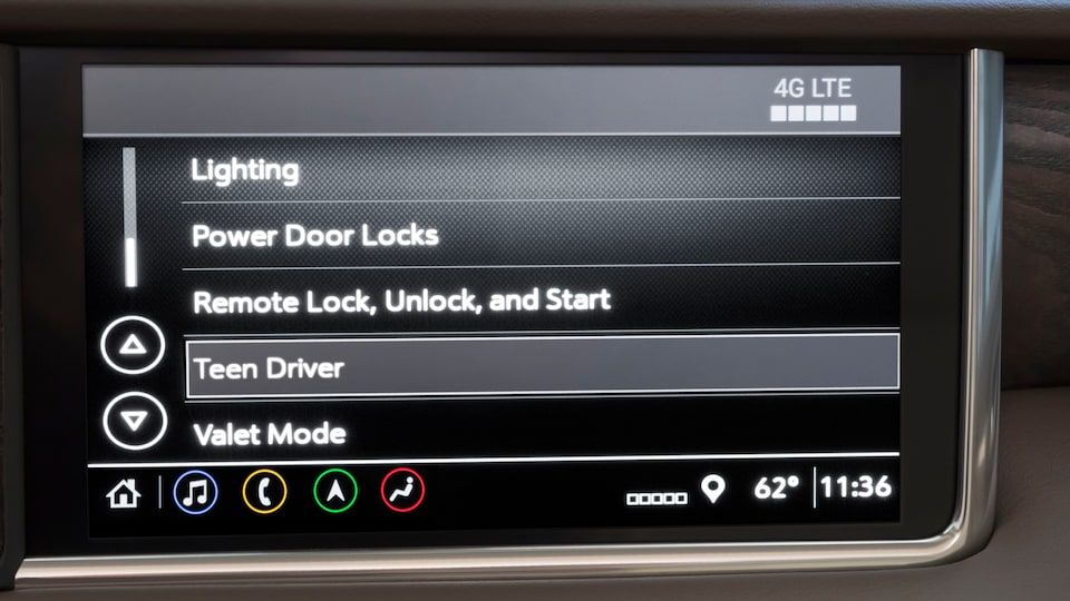2021 GMC Yukon Full size SUV Teen Driver Controls