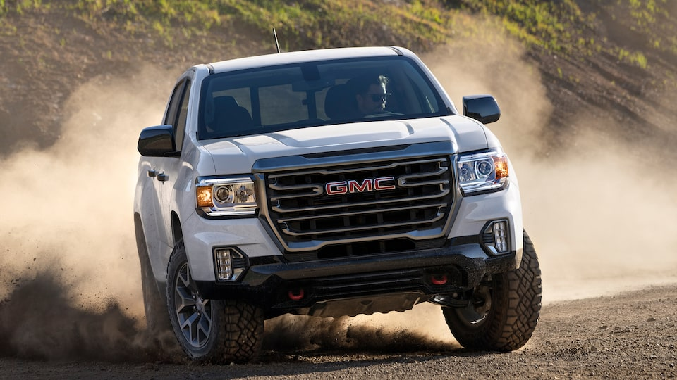 2021 GMC Canyon AT4 Small Off-Road Truck Front Grille View