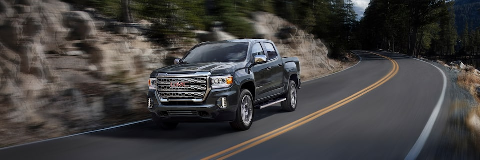 2021 GMC Canyon Small Truck driving on road