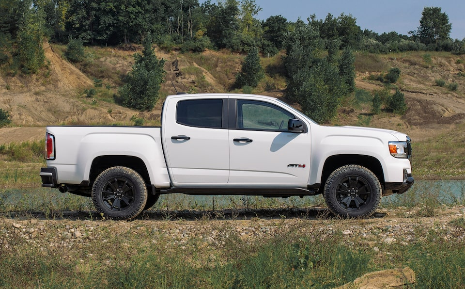 2021 GMC Canyon AT4 Small Off-Road Truck Package Side Profile