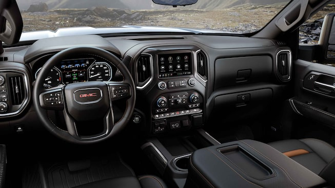 2021 GMC Sierra HD AT4 Off-Road Truck Front Dashboard Interior