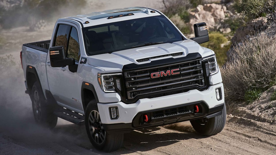 2021 GMC Sierra HD AT4 with off-road suspension with Rancho Shocks