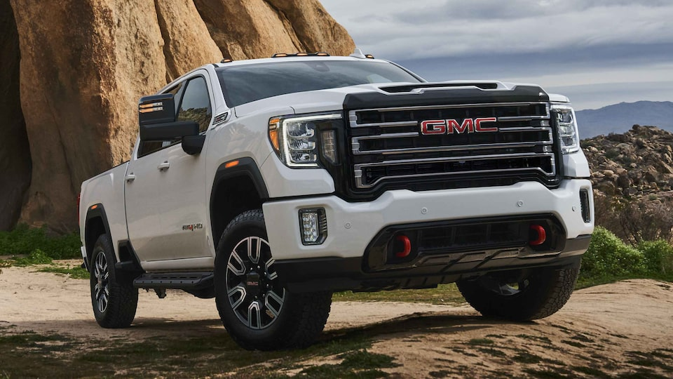 2021 GMC Sierra HD AT4 Heavy Duty Off-Road Truck side angle view