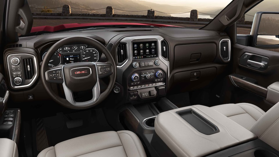2021 GMC Sierra HD Heavy Duty Truck with best-in-class crew cab front head and leg room