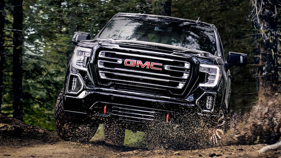 2021 GMC Sierra 1500 AT4 Pickup Truck with 2-inch factory installed suspension lift