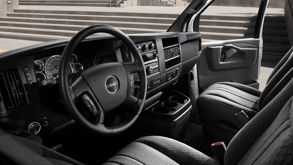 2021 GMC Savana Passenger Van with front and side airbags