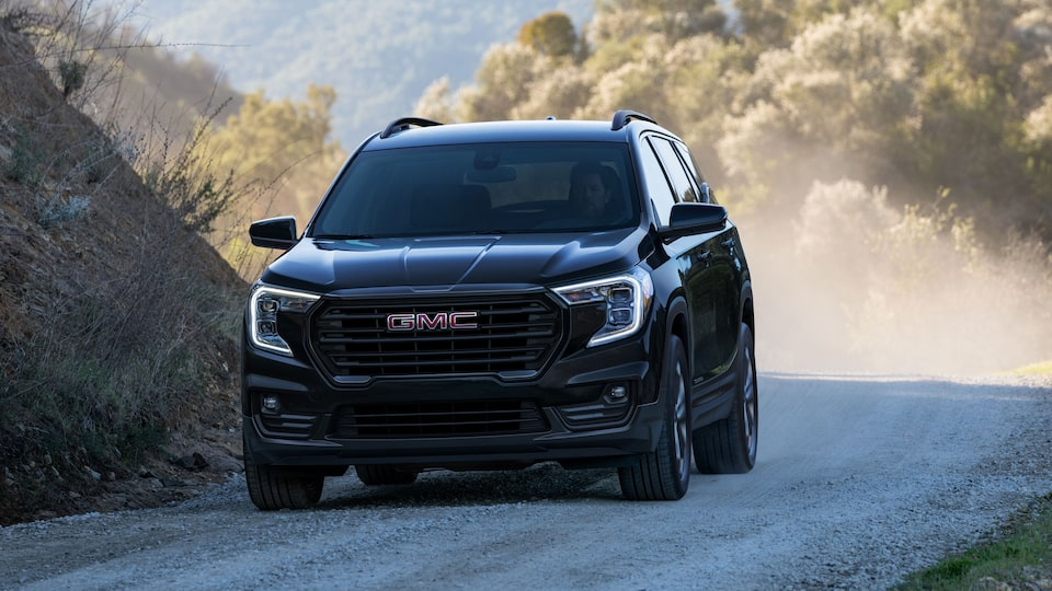 2022 GMC Terrain Elevation Small SUV driving on road