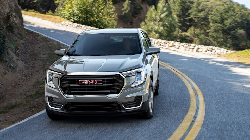 2022 GMC Terrain SLE Small SUV driving on road
