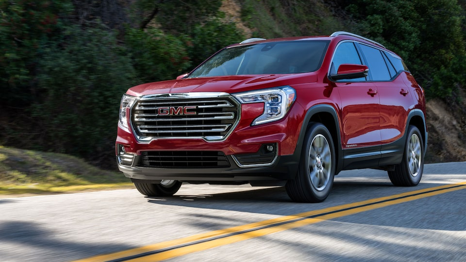 2022 GMC Terrain SLT Small SUV driving on road