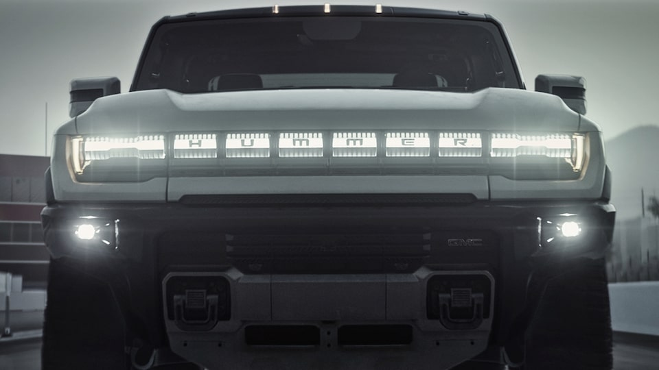 2020 GMC HUMMER EV Electric Truck front headlights
