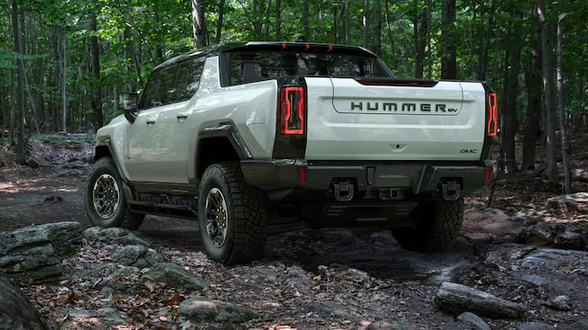2020 GMC HUMMER EV Electric Truck rear angle view