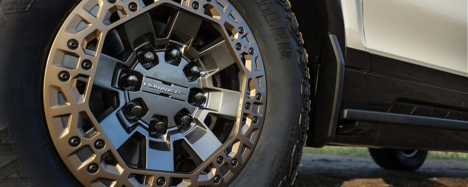 2020 GMC HUMMER EV Electric Truck wheel close up