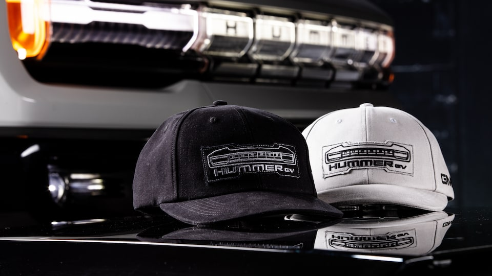 Hat inspired by the GMC HJMMER EV Electric truck