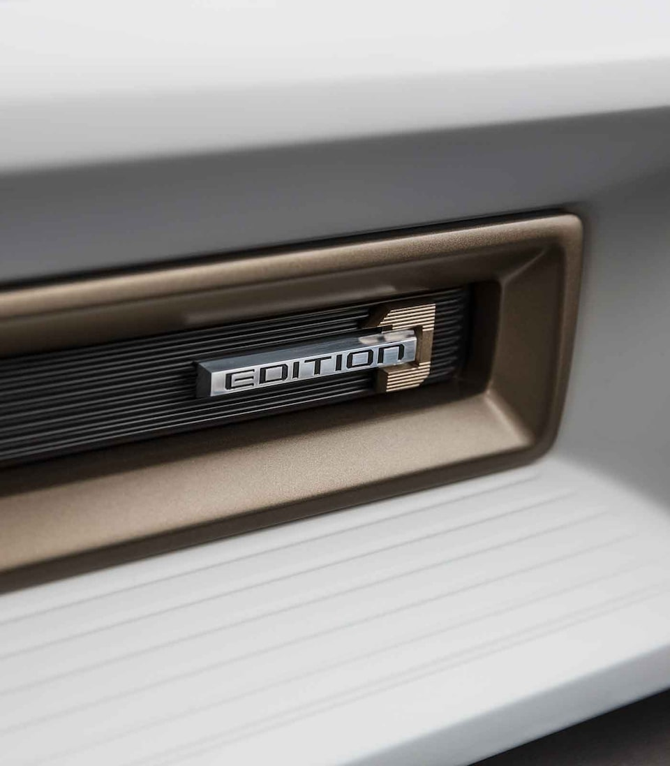 2021 HUMMER EV Electric Truck Edition 1 emblem close up
