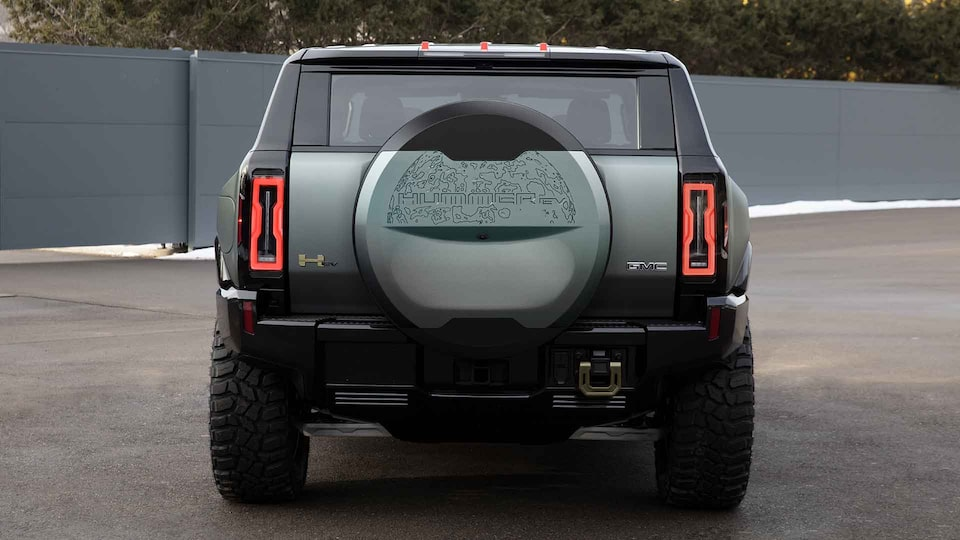 2021 HUMMER EV Electric truck aerial shot on beach