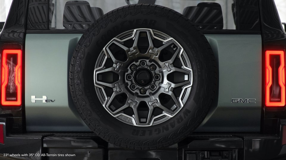 GMC HUMMER EV electric SUV rear 35-inch tire