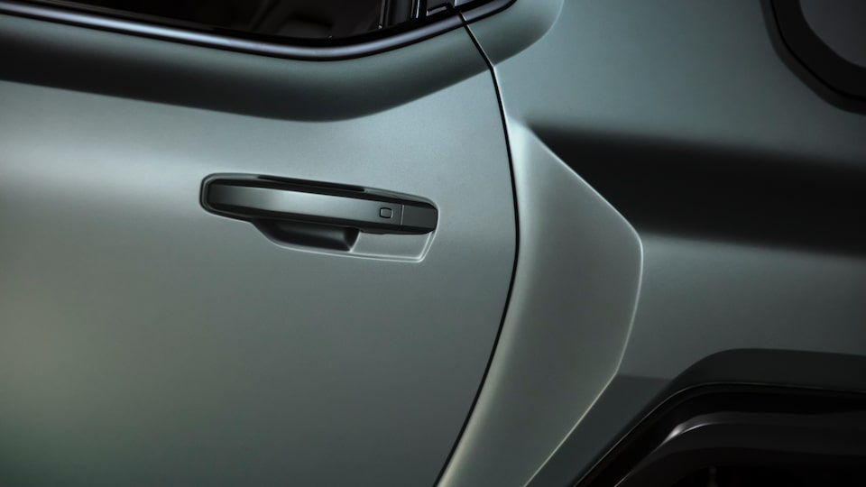 GMC HUMMER EV electric SUV door handle close up